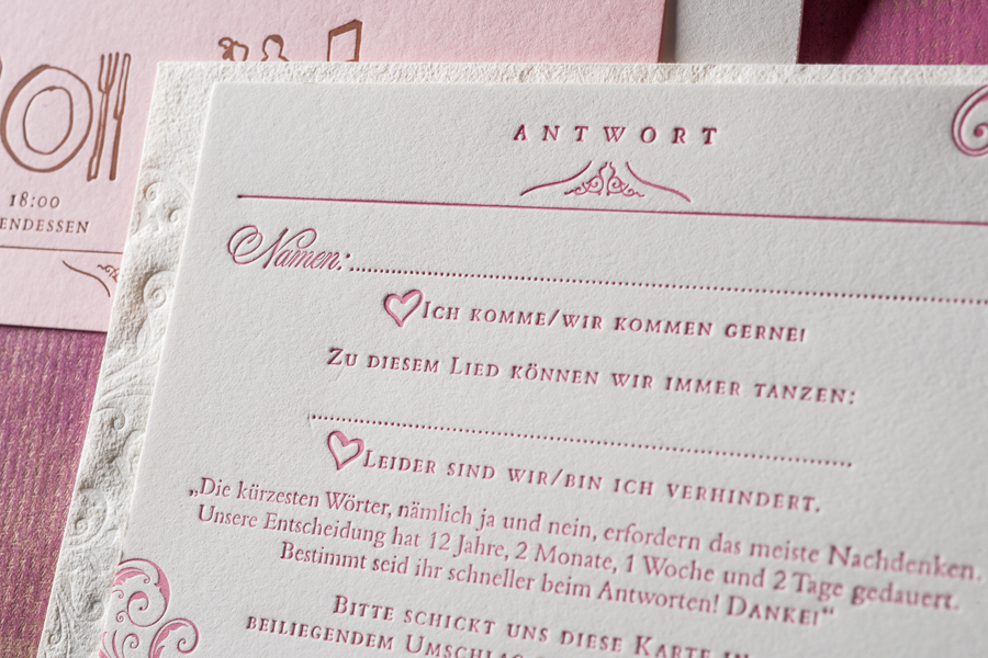 letterpress manufaktur Salzburg Hochzeitseinladung 2017