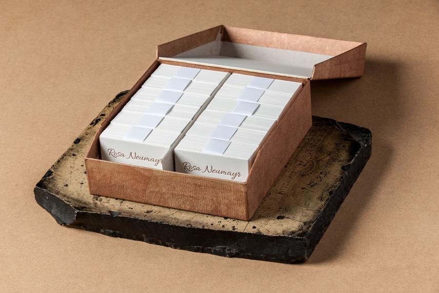 visitenkarten für ROSA NEUMAYR www.rosa-wirkt.at