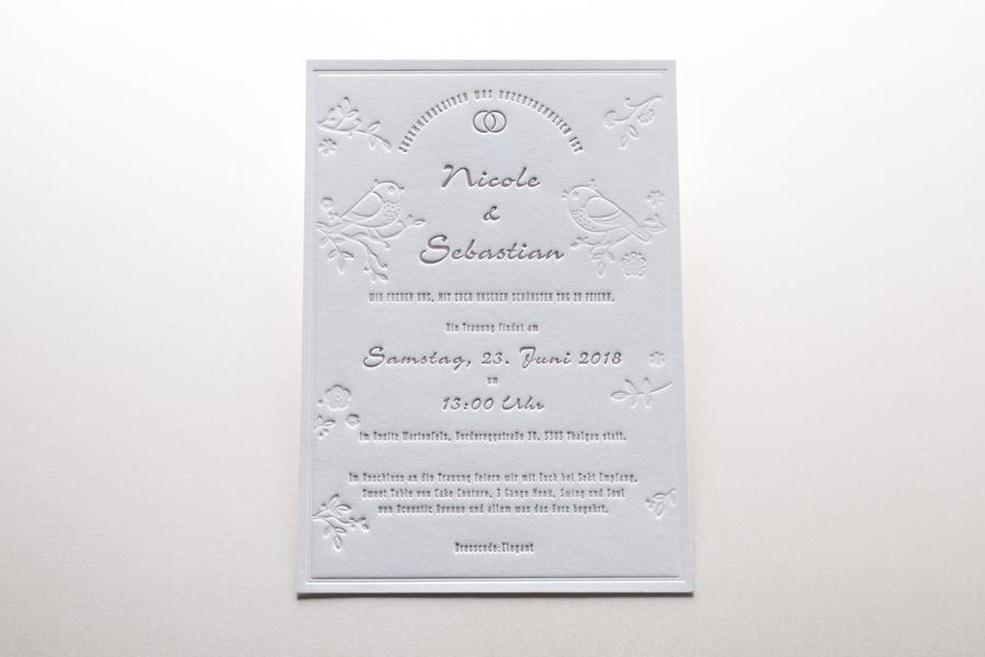 Hochzeitseinladungen März 2018
