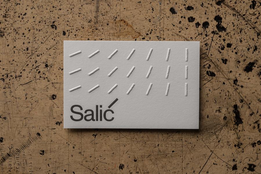 Visitenkartenprägung Für Agentur Salic Letterpress