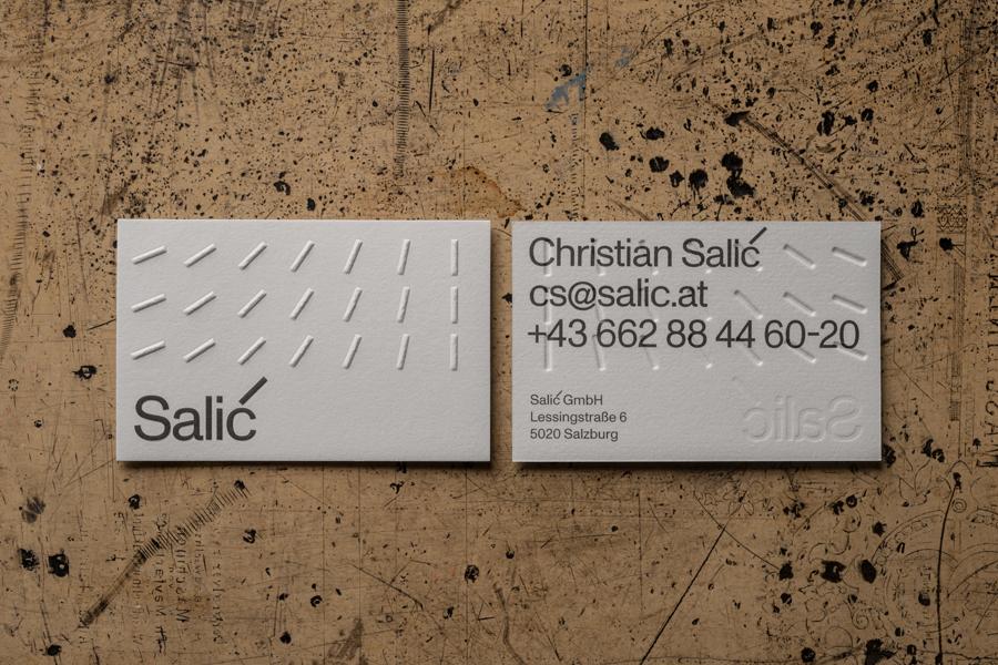 visitenkarten-prägung für SALIC